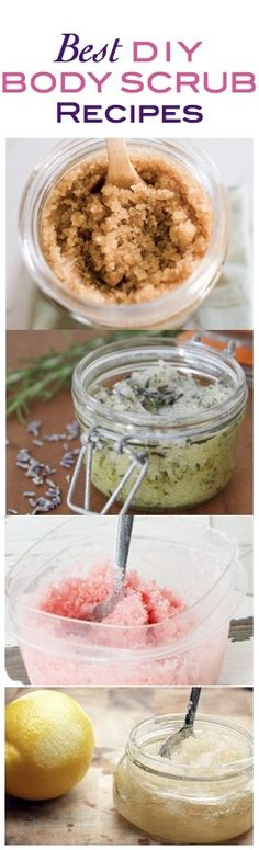 DIY body scrubs.