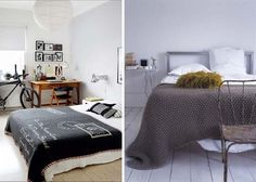 Love the texture of the blanket on the right.