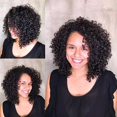 Mid Length Curly Hairstyles, Short Curly Haircuts, Curly Hair Cuts, Curled Hairstyles, Natural Hair Styles, Short Hair Styles, Red Curls, Birthday Hair, Corte Y Color
