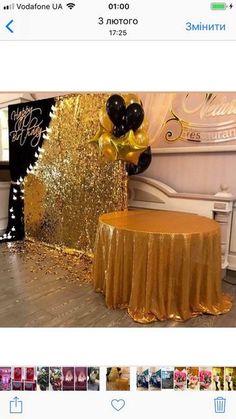 Birthday brunch ideas decorations events 19 Ideas for 2019 Birthday Brunch, 60th Birthday Party, 50th Party, Birthday Dinners, Gold Party, Surprise Birthday, Dinner Party Decorations, New Years Eve Decorations, Birthday Decorations