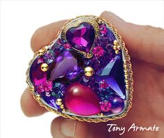 PURPLE HEART, Whimsical Trinket Box with Free US Shipping. $34.00, via Etsy.