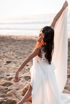 Modern dance bridal editorial on the beach. #bridalportraits #modernbrideinspiration #bridaleditorials