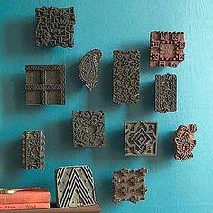 Love old batik print blocks....