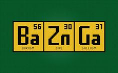 The Big Bang Theory - Bazinga Periodic Table pattern