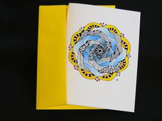 "Blank Art Card - ""Cloud"" - 5 x 7 - Any Occasion - Mandala - Friendship - Relaxation - Meditation - Mindfulness - Spiritual - Playful - Joy by CreateThriveGrow on Etsy https://www.etsy.com/listing/255004381/blank-art-card-cloud-5-x-7-any-occasion"