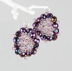 Create a pair of shimmering seed bead earrings with the brilliant Preciosa Hill beads!
