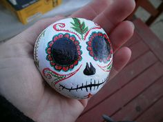 Pokete Peepl  Painted Rock Friends SUGAR SKULL by ZellysCreations, $5.00
