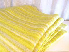 Striped Heavy 100 Virgin Wool Blanket // Van Wyk by ThisIsMyBrain, $71.00