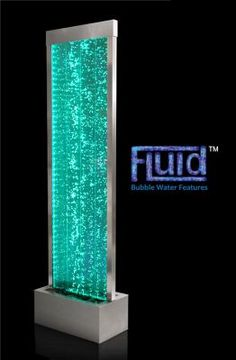 Bubble Water Wall (6ft) with Color Changing Lights - Indoor Use