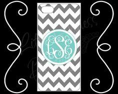 SALE 27% OFF!  iPhone 4 4s 5 5s 5c  iPod Touch 4 5 Personalized Custom Chevron Tiffany Blue Gray HaRD, RuBBer, or BuMPeR case Monogram