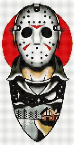 Cross stitch charts brings the festival decoration look in the home. From fun and funky to classic and elegant, we've got a selection of all the cross stitch patterns you'll ever need. Beaded Cross Stitch, Cross Stitch Charts, Cross Stitch Designs, Cross Stitch Embroidery, Cross Stitch Patterns, Michael Myers, Obelix, Perler Bead Templates, Texas Chainsaw Massacre
