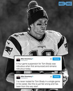 Greeny is not happy with Tom Brady's 4-game suspension being reinstated.  4/26/2016