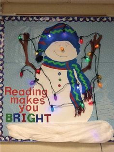 This project is easy to make and encourages students to read! Perfect for classroom reading corners during the cold winter months.