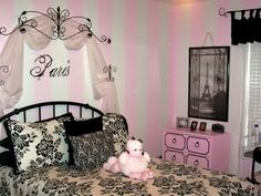Paris Themed For Girl Bedroom