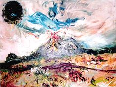 Affandi Mt. Merapi (Indonesian Painter)