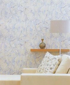 Marble Wallpaper Pale blue and beige marble effect wallpaper