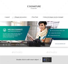 Buy E Signature by Doony on GraphicRiver. PSD File is fully layered and can easily be edited Shapes are vectors Colors and shapes can be changed without any lo. E Signature, Signature Design, Icon Design, Web Design, Graphic Design, Email Signature Templates, Email Signatures, Free Website Templates, Color Shapes