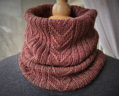 Sand Island Cowl pattern by Fiber of Maine Karen Grover of Seven Sisters dyed the beautiful Pink Granite colorway of her luxurious Apex yarn, which became the insp. Knitting Designs, Knitting Patterns Free, Knitting Projects, Crochet Patterns, Knitting Tutorials, Free Knitting, Knitting Machine, Stitch Patterns, Turbans