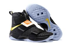 Find Nike LeBron Soldier 10 Finals ID. Black Gold Cheap To Buy online or in  Pumafenty. Shop Top Brands and the latest styles Nike LeBron Soldier 10  Finals ...