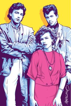 Artwork of the Pretty In Pink poster photo for an upcoming Manic Monday 80s Night Event at the Brass Rail. Hint: wear pink stuff. — with Brass Rail and Junior TheDiscopunk in San Diego.
