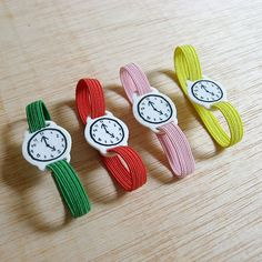 Items similar to Toy watch with elastic watchband bracelet. One-of-a-kind handmade fake clock. on Etsy Diy For Kids, Crafts For Kids, Conkers, Embroidery Patterns Free, Clay Creations, Baby Toys, Kids Playing, Cute Kids, Watch Bands