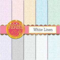Linen digital paper White Linen backgrounds, white digital paper with linen textures and pastel colors #etsy #digitalpaper