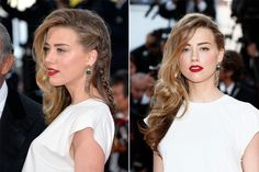 How to Get Amber Heard's Sexy Side Braid - Amber Heard Cannes Hairstyle - Elle