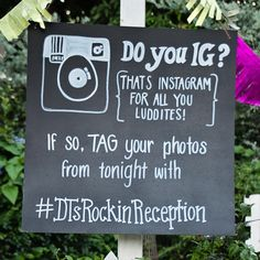 Are both of you social media enthusiasts? Why not incorporate your love for it to your wedding reception? Create a hashtag and have your guests tag their photos of your day with it.