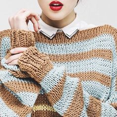 Laguna Sweater textures | We Are Knitters