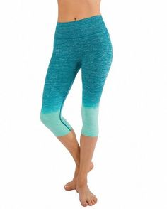 Sassy Apparel Women's Premium Quality Active Yoga Gym Workout Wear Cropped Pants (Medium, Jade)