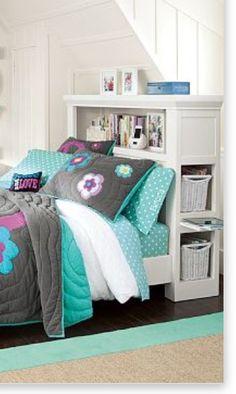 Storage headboard with nightstands  For Ryan's new bedroom