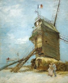 "Van Gogh - Mia Feigelson Gallery - ""Le Moulin de la Galette"" (Paris. About 1886-1887) [F348]  By Vincent van Gogh (Dutch, 1853-1890)oil on paper on canvas; 61 x 50 cm; 24 x 19.7 in.  Place of creation: Montmartre, Paris"