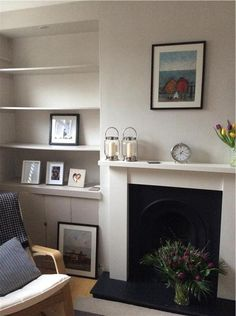 An inspirational image from Farrow & Ball. Dining Room Paint Colors, Room Wall Colors, Dining Room Walls, Living Room Paint, New Living Room, Home And Living, Living Room Decor, Paint Colours, Bedroom Colours