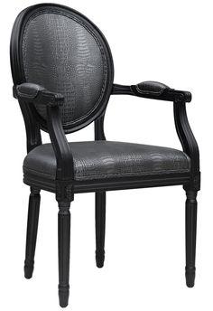 TOV Furniture Philip Croc Arm Chair