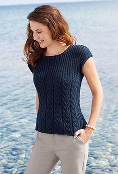 Most Popular Vintage Crochet Patterns Summer Tops Ideas Ladies Cardigan Knitting Patterns, Knitting Patterns Free, Knit Patterns, Summer Knitting, Baby Knitting, Vintage Crochet Patterns, Knitting Designs, Summer Tops, Pulls