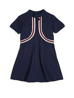 Gucci Little Girl's & Girl's Short-Sleeve Polo Dress - Blu Brb - S