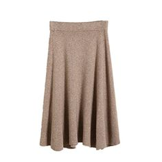Elastic skirt Knee-length Xagoo Cable Knitted Long skirts khaki