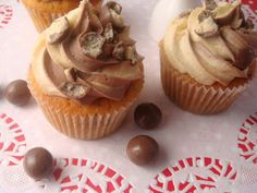 butter hearts sugar: Malteser Cupcakes
