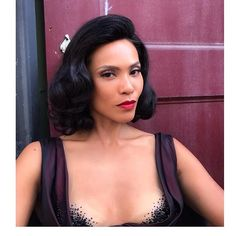 Look at the amazing work of Ange Bebbington and on wearing --- She can wear anything! I love creating looks with you! Makeup by . Lesley Ann Brandt, Chloe Decker, Lauren German, Tom Ellis, Killer Queen, Australian Fashion, Wigs, Celebrity Style, Amazing