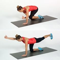 Take 10 minutes out of your day to lift your seat! This tush-toning workout from Hayden Panettiere's Pilates instructor, Heather Dorak, will sculpt and tone Lower Ab Workouts, Fun Workouts, Muscle Workouts, Bird Dog Exercise, Fitness Tips, Health Fitness, Cardio Fitness, Fitness Wear, Fitness Quotes
