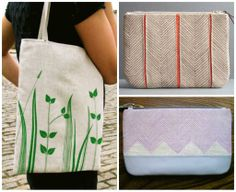 Painted tote bags & wallets