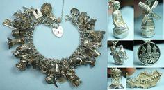 Denmark England Malta… Openers Loaded Vintage Silver Bracelet   eBay