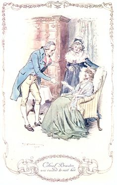 sense and sensibility illustrations - Colonel Brandon was invited to visit Marianne.