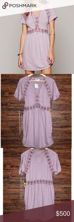 FREE PEOPLE Tunic Lace Raw Silk Eyelet Mini Dress Size Medium.  New With Tags. $256.00 Retail + Tax.  • Beautiful & sophisticated, this soft lace tunic features a worn-in, relaxed vibe with intentional pilled aspect. • Raw lace tonal insets. • Sleeves & bottom hem are cuffed. • By Nightcap for Free People.  • Measurements provided in comment(s) section below.     {Southern Girl Fashion - Boutique Policy}   ✔️ Same-Business-Day Shipping (10am CT). ✔️ Reasonable best offer considered when…