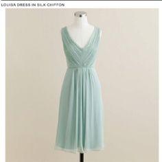 #jcrew Louisa dress in silk chiffon dusty shale