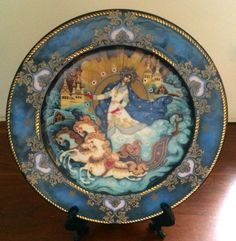 Hand Painted Signed Russian Decorative Plate