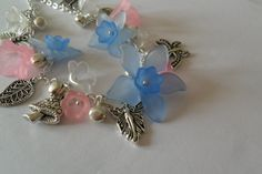 Fairy Bells Charm Bracelet in Silver-Plate with Pastels