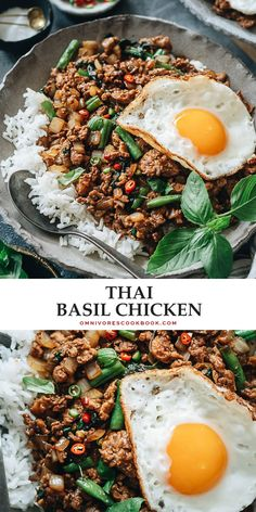 Thai Basil Chicken (Pad Krapow Gai) | Omnivore's Cookbook Best Chicken Recipes, Asian Recipes, Healthy Recipes, Ethnic Recipes, Chinese Recipes, Sweet Recipes, Kitchen Recipes, Cooking Recipes, Meal Recipes