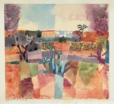 Paul Klee (1879 - 1940): Hamammet, 1914. Aquarell und Bleistift auf Papier auf Karton, 22 x 24 cm; Privatbesitz
