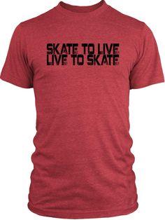 Big Texas Skate to Live (Black) Vintage Tri-Blend T-Shirt